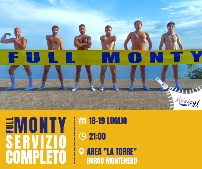 Banner Circeo Musical Project 2018 - Full Monty